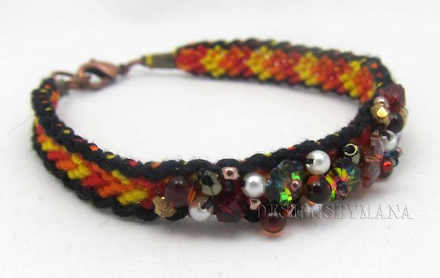 red beaded friendship bracelet