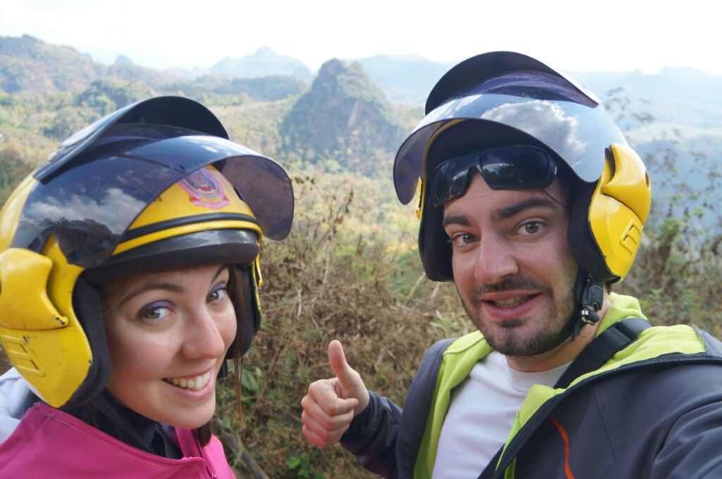 mae hong son loop avec nos casques de scooter