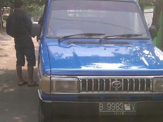 Pengecekan Mobil pick up B 9983 UV Kupang.