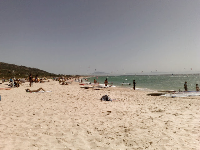 Plaża surferów w Tarifie
