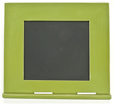 square framed chalkboard