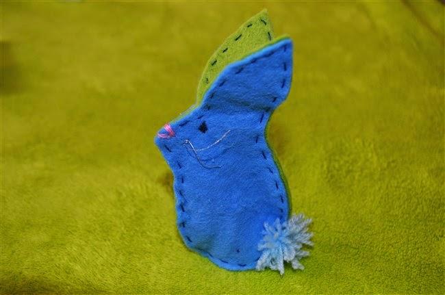 handmade felt rabbit