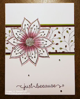 "Flower Card made with Stampin'UP!'s ""Friends and Flowers"" stamp set and Festive Flower Builder Punch"