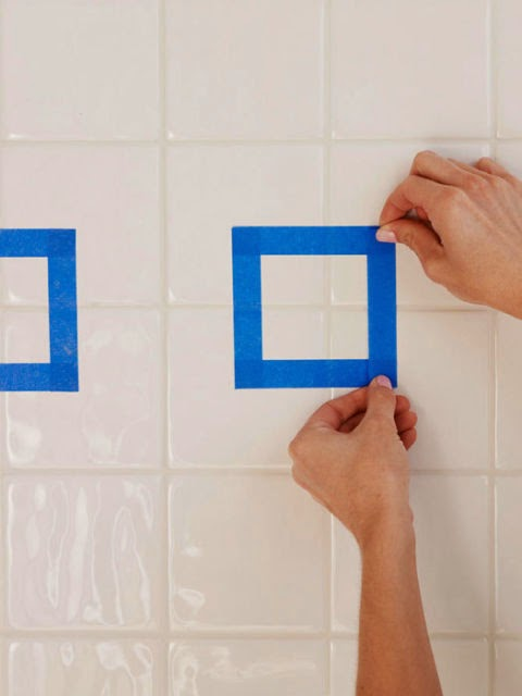 Painting Ceramic Floor Tile In Bathroom : Fleachic flea market savvy