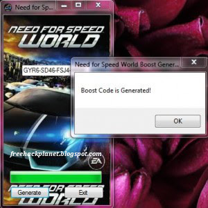 This is new Key Generator fo Need For Speed World!