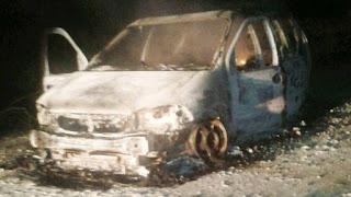 Encuentran 5 calcinados en camioneta en Campeche