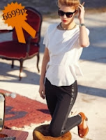 Блузка с баской от DKNY