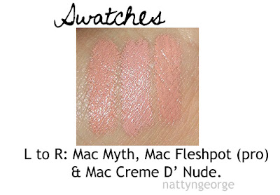 mac fleshpot swatches