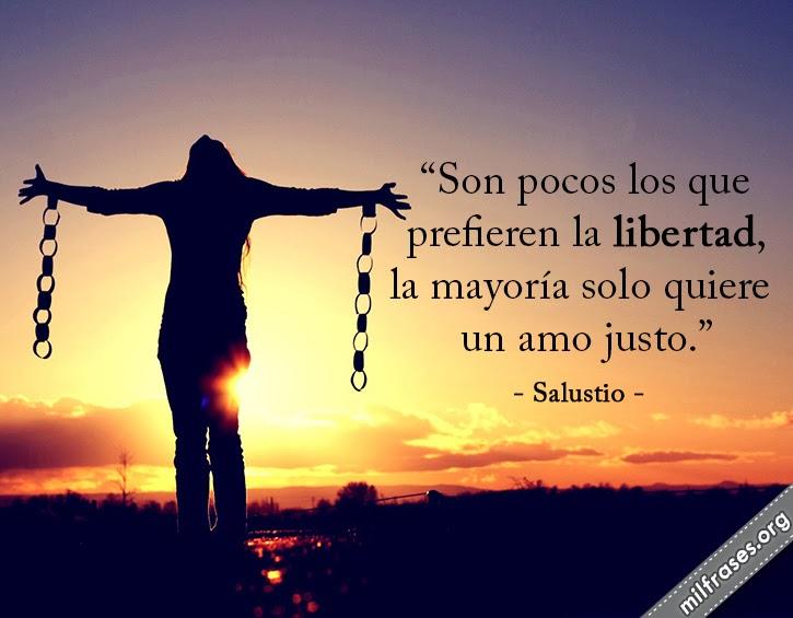 frases de Gayo Salustio Crispo historiador latino frases de libertad