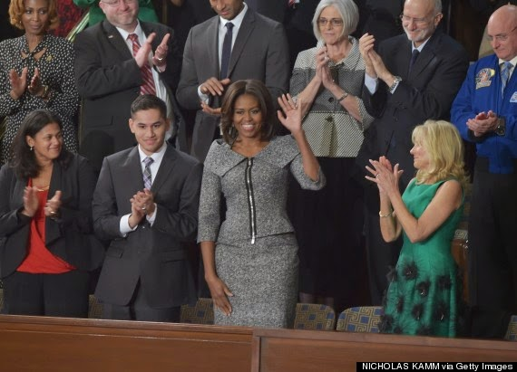 Michelle Obama's State Of The Union Dress Grey Michael Kors Skirt Suit