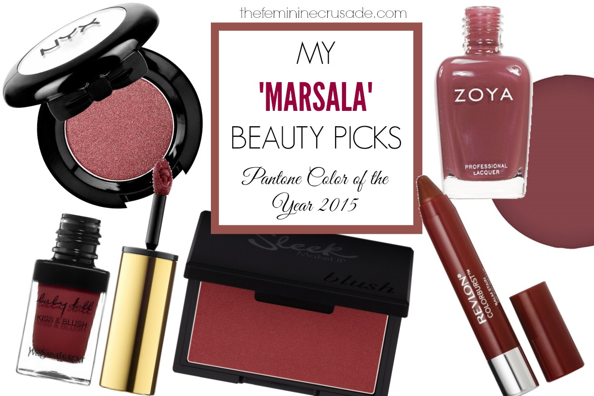My 'Marsala' Beauty Picks - Pantone Color of the Year 2015