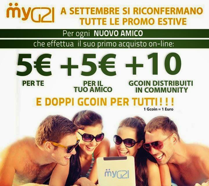 guadagnare dai 21 ai 90 euro al giorno con MyG21 - promo settembre