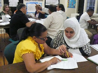 Students attending a USCIS-funded citizenship class in Springfield, MA