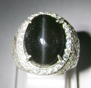 Cincin Batu Permata Cat Eye Silimanite