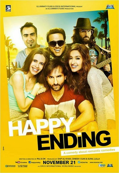Ranvir, Govinda, Saif, Kalki, Ileana in Happy Ending movie Poster