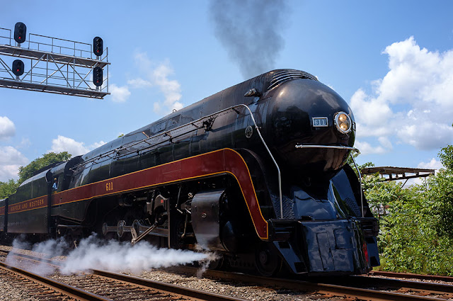 Norfolk and Western Class J 611 Steam Locomotive in Manassas, VA