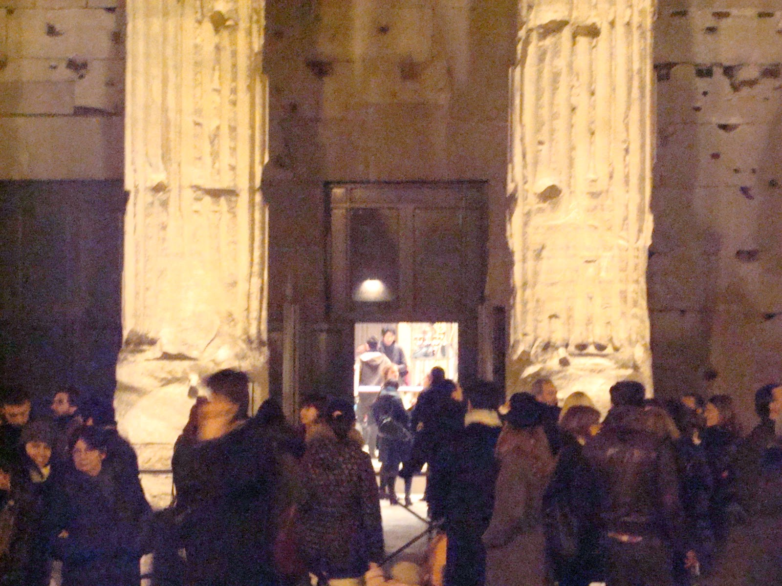 Majestic! And Here's The Entrance, Hidden Among The Ancient Columns: