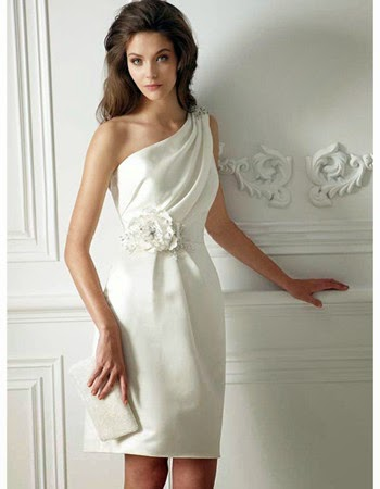 Simple Short Beach Wedding Dresses 45 Fabulous One Shoulder Satin Short