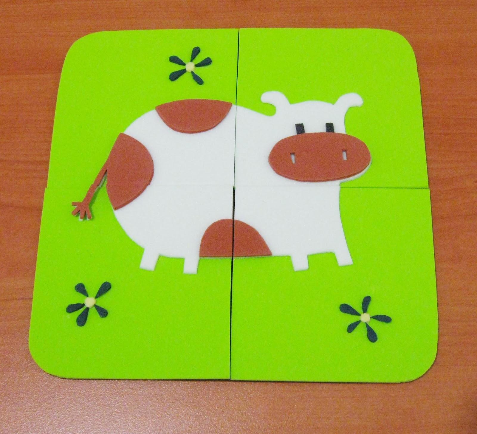 Accesorios infantiles con dise o rompecabezas en goma eva for Diseno piezas infantiles