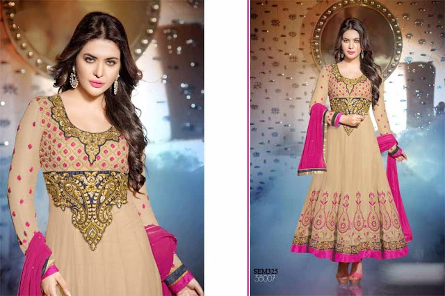 Floor Touch Embroidery And Handwork Anarkali Suit