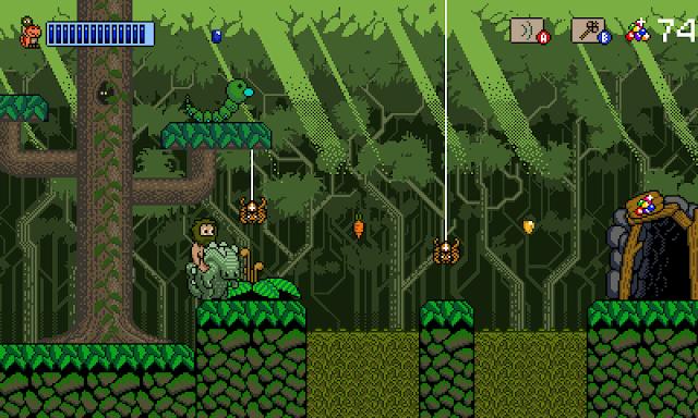 Aventuras y plataformas con dinosaurios pixelados en el simpático Dinocide