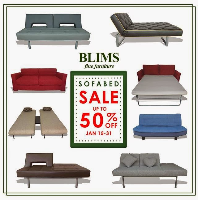 Blims sofa bed sale jan 15 to 31 2015 pamurahan your ultimate source of philippine promos Affordable home furnitures philippines