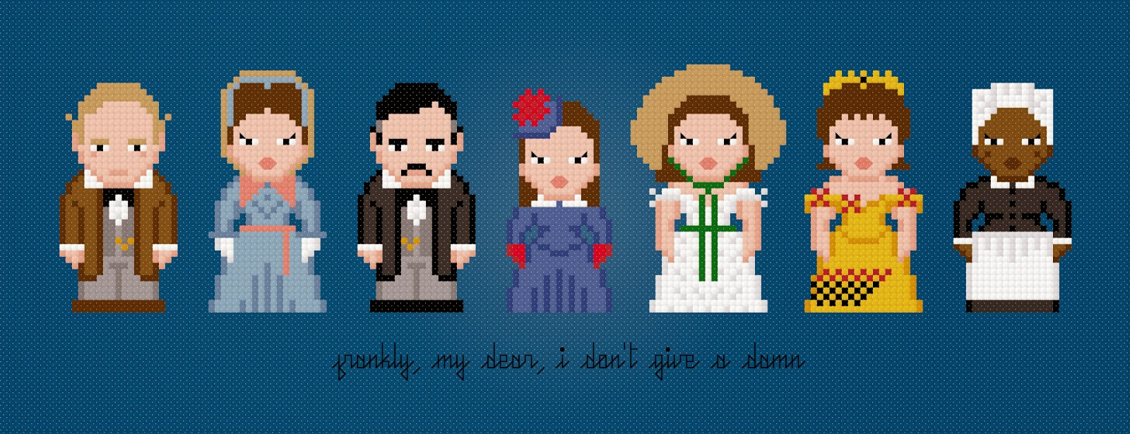 """Gone with the Wind —€"""" The Extended Edition - Cross Stitch PDF Pattern Download"""