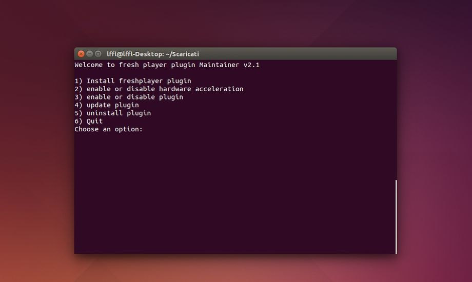Flash player script Ubuntu