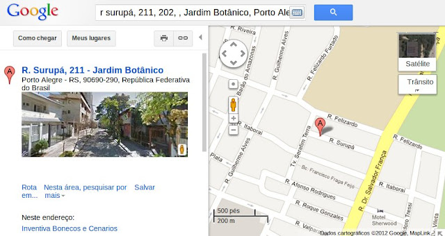 Página do Google Maps que é aberta a partir do link no Tá Tri