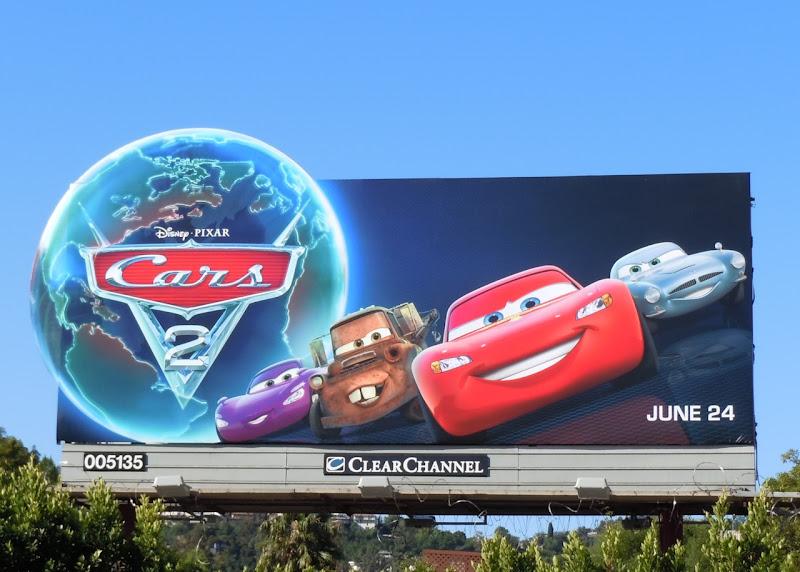 Cars 2 Disney Pixar billboard
