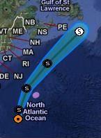 MARIA legt in jeder Hinsicht zu - Hurrikangefahr Bermudas ... und Neues aus der Hurrikan-Allee, aktuell, Maria, Bermudas, Verlauf, Vorhersage Forecast Prognose, Atlantik, September, 2011, Hurrikansaison 2011, Satellitenbild Satellitenbilder,
