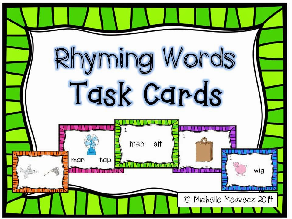 Printables 5 Rhyming Words dabbling in differentiation rhyming words task cards i included 5 different activities for differentiated learning wish would have had this product while my kinders were still abou