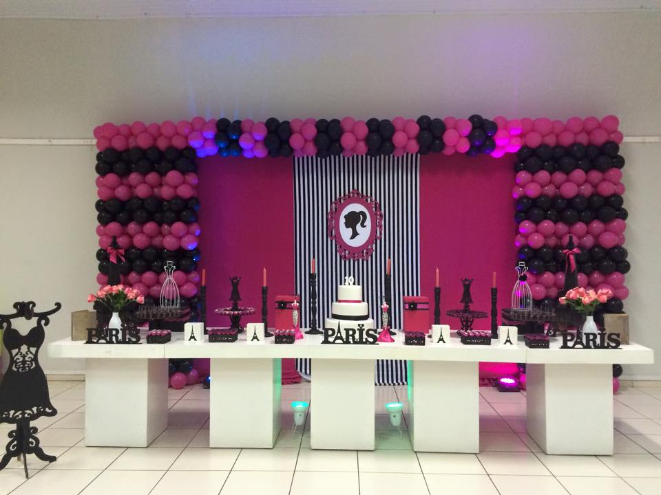 decoracao festa barbie : decoracao festa barbie:Lidiane Decoração infantil TEM FESTAS- 34236880: Barbie em Paris