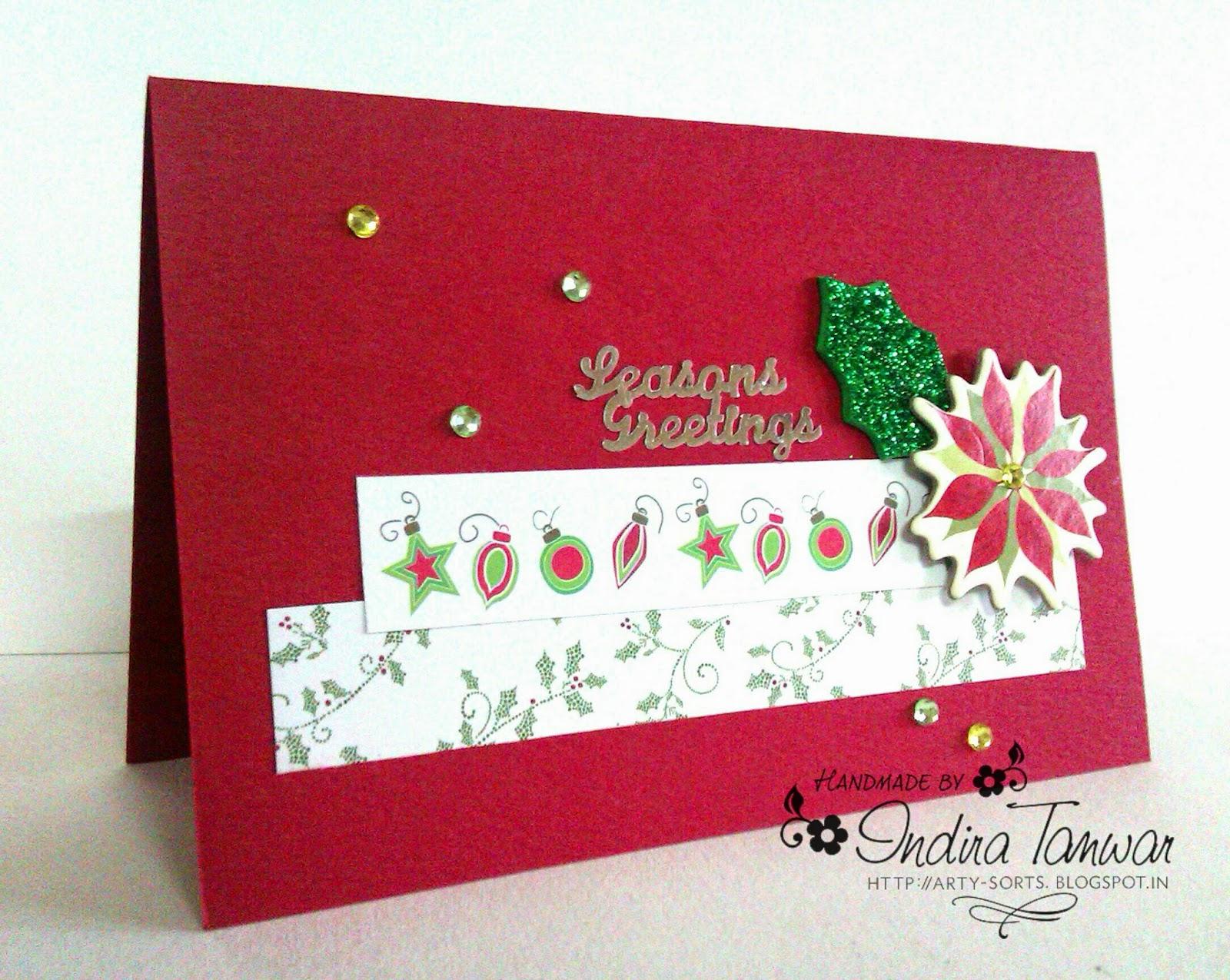Arty Sorts: Handmade Christmas Card 2014 - Design 2