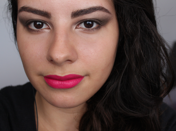 wetnwild megalast liquid lipstick back to the fuchsia review swatch