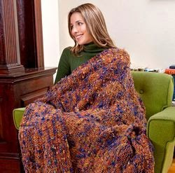 Checkerboard Afghan Knitting Pattern