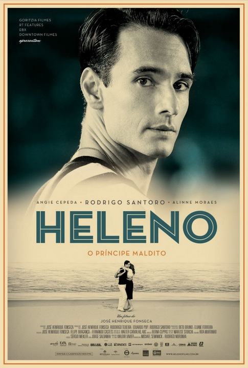 """Pôster do filme """"Heleno"""", com Rodrigo Santoro"""
