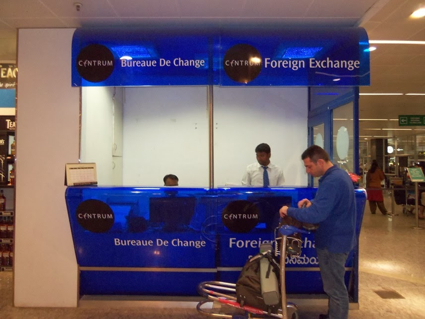 Forex counter at bangalore airport