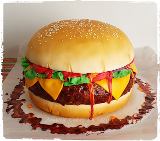 Birthday Cake Hamburger Image Inspiration of Cake and Birthday