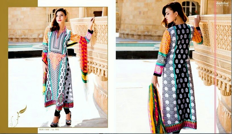 Maria-B Sahiba Astitva Designer Lawn Collection 2014