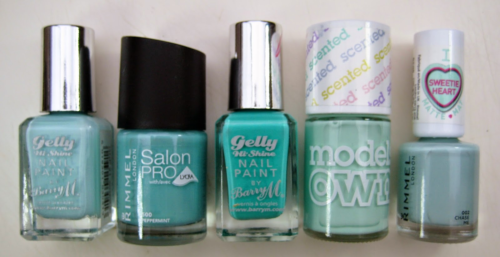 top 5 mint nail polishes