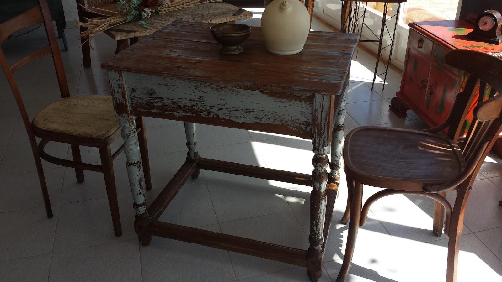 Mesa de cocina pureza de anta o rusticalia decoracion - Mesas rusticas de cocina ...