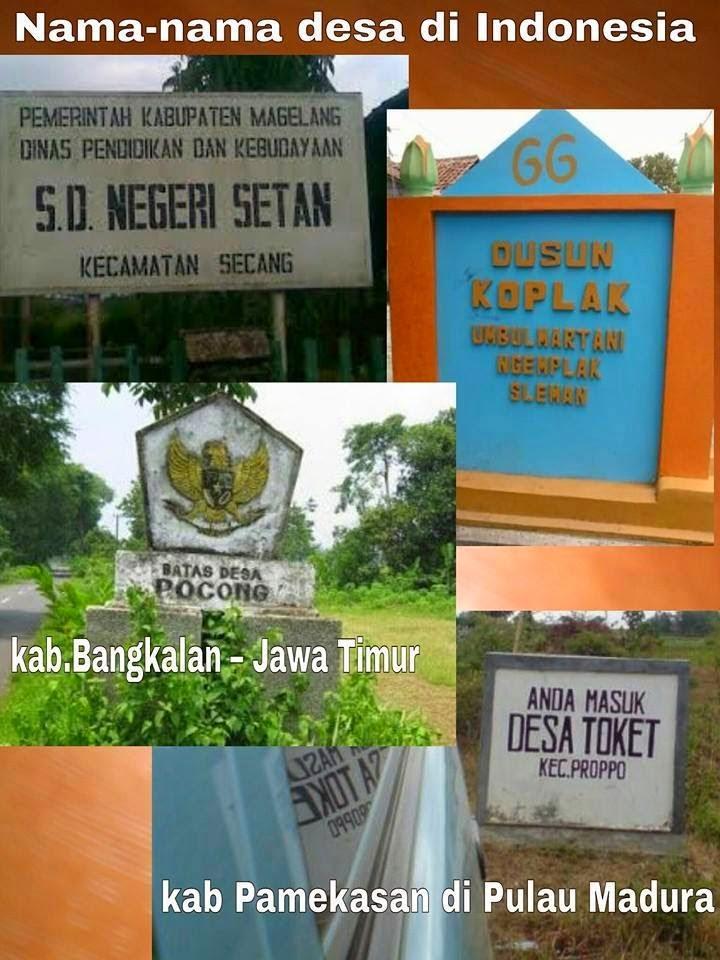 Inilah nama nama desa di indonesia