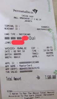 biaya salinan transaksi kartu kredit
