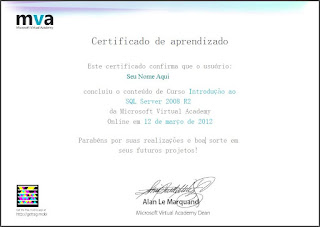 Certificado curso TI
