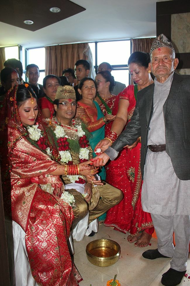 shree krishna shrestha and sweta khadka marriage photo