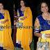 Socialite in Blue Velvet Salwar