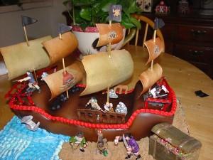 Торт в виде корабля в домашних условиях 40
