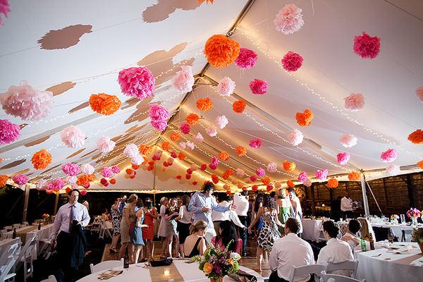 decoration mariage pompon - Voile D Hivernage Mariage