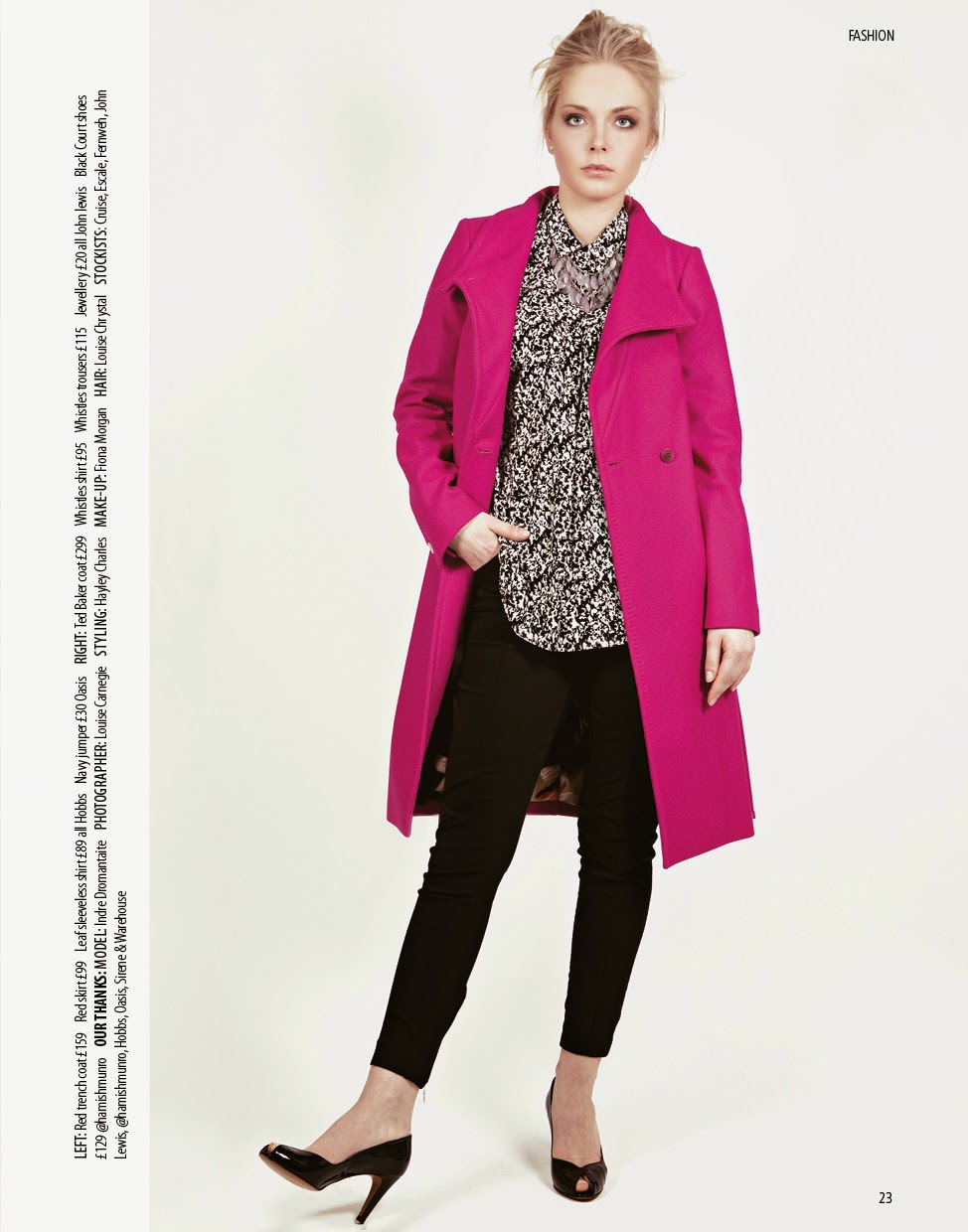 Girl models spring 2015 fashion for Trend Magazine, Aberdeen